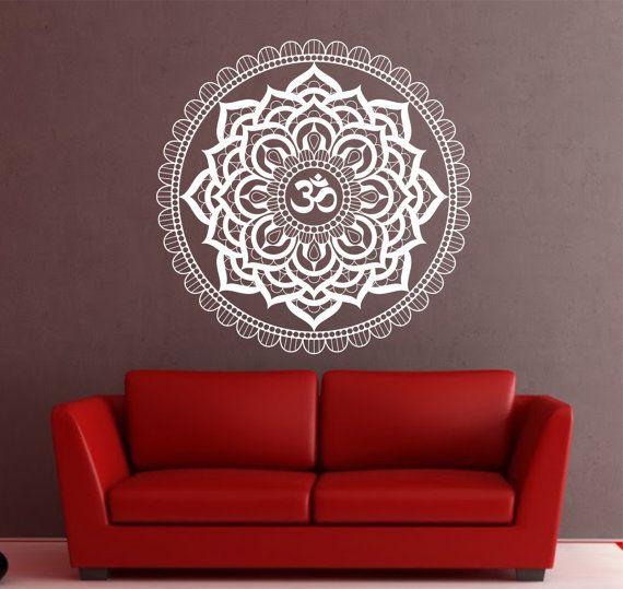 Attirant Mandala Wall Decal Sticker Yoga Om Namaste Yoga Decor Wall Vinyl Decal  Lotus Interior Home Decor
