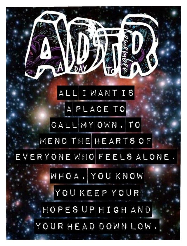 All I Want A Day To Remember Edit