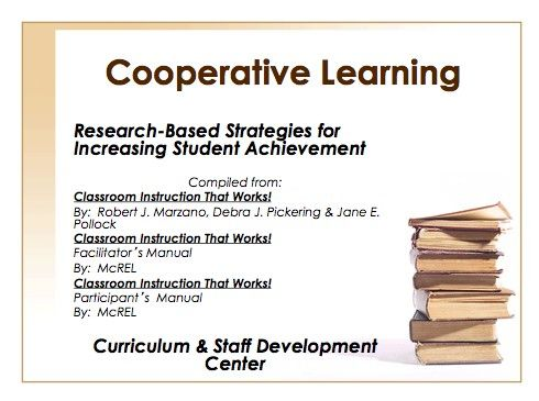 Cooperative Learning Ppt For Training Staff About This Instructional