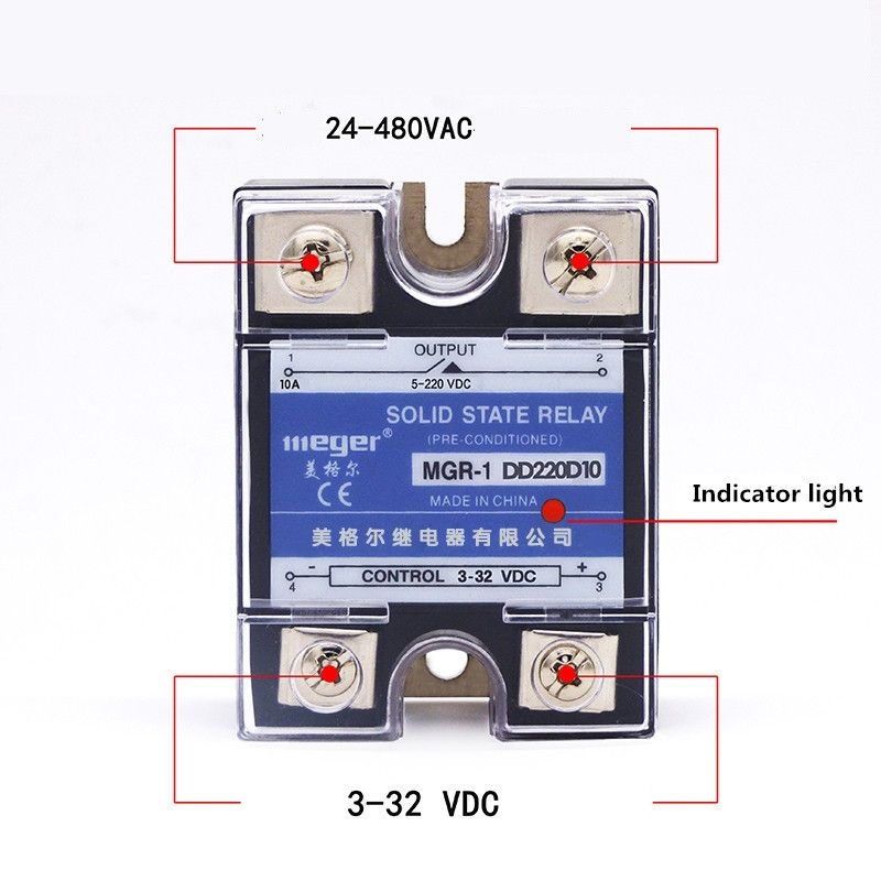 SSR 10A DC-DC Solid state relay Quality Goods MGR-1 DD220D10 10A 24V