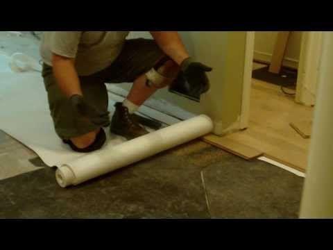 Wood Floor Installation Using Asphalt