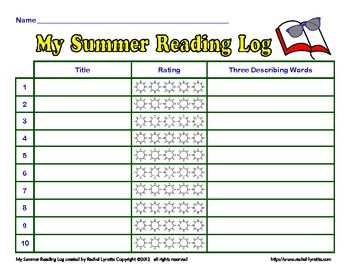 summer reading log template - summer reading log for elementary students book