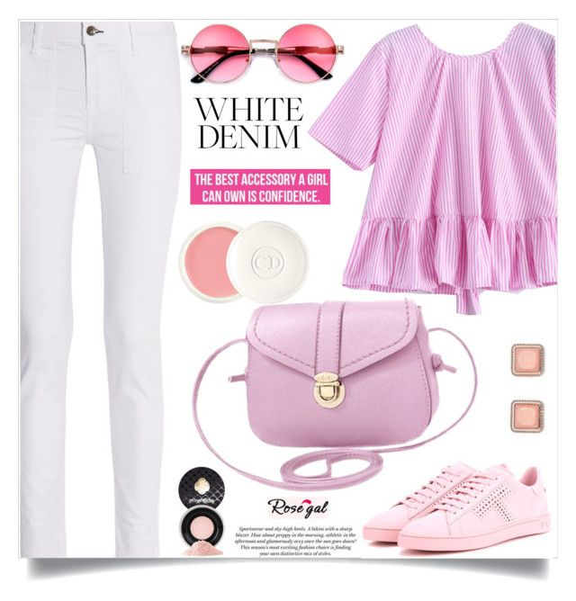 """""""Bright White: Summer Denim"""" by samra-bv ❤ liked on Polyvore featuring rag & bone, Tod's, Christian Dior, Mirenésse, H&M, whitejeans, polyvorecontest and polyvorefashion"""