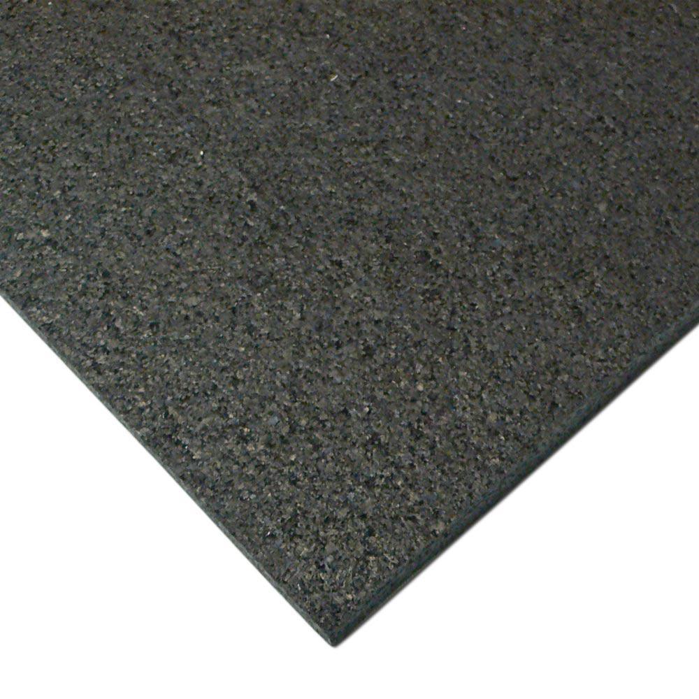 Rubber Cal Treadmill Mat 3 16 In X 48 In X 78 In Black Heavy