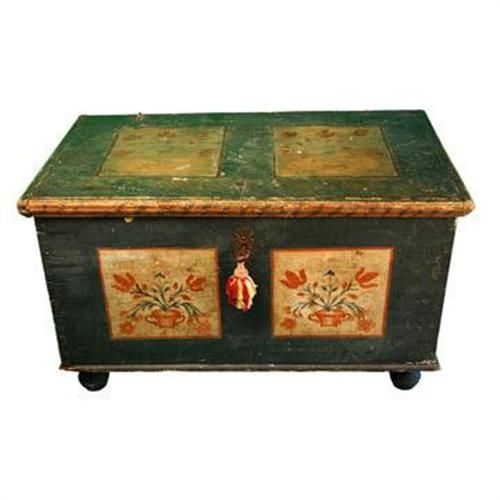 Early Pennsylvania Dutch Painted Blanket Chest #1262961 · Antique Painted  FurniturePaint ... - Early Pennsylvania Dutch Painted Blanket Chest #1262961 Art