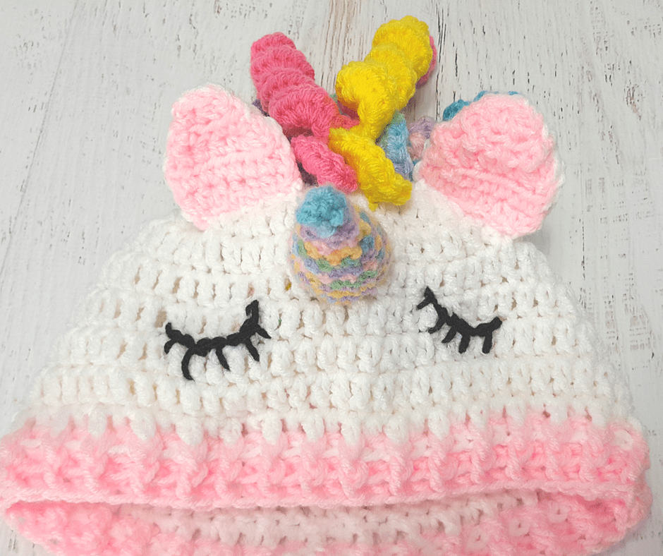 Easy Crochet Unicorn Beanie / Hat | crochet | Pinterest | Gorras ...