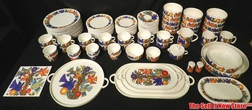 villeroy boch acapulco 104 pc china dinner service porcelain luxembourg dishware ebay