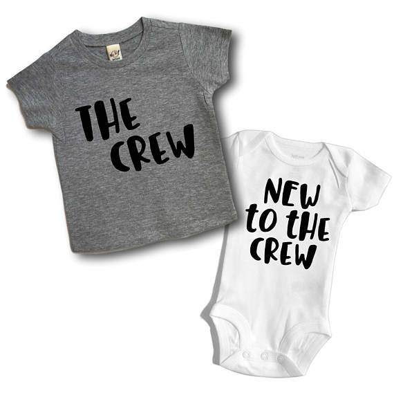63a054b2f4 New to the crew Sibling outfits Matching outfit New to | brothers ...