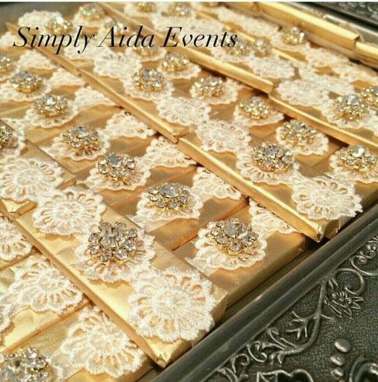 Gold wedding chocolate