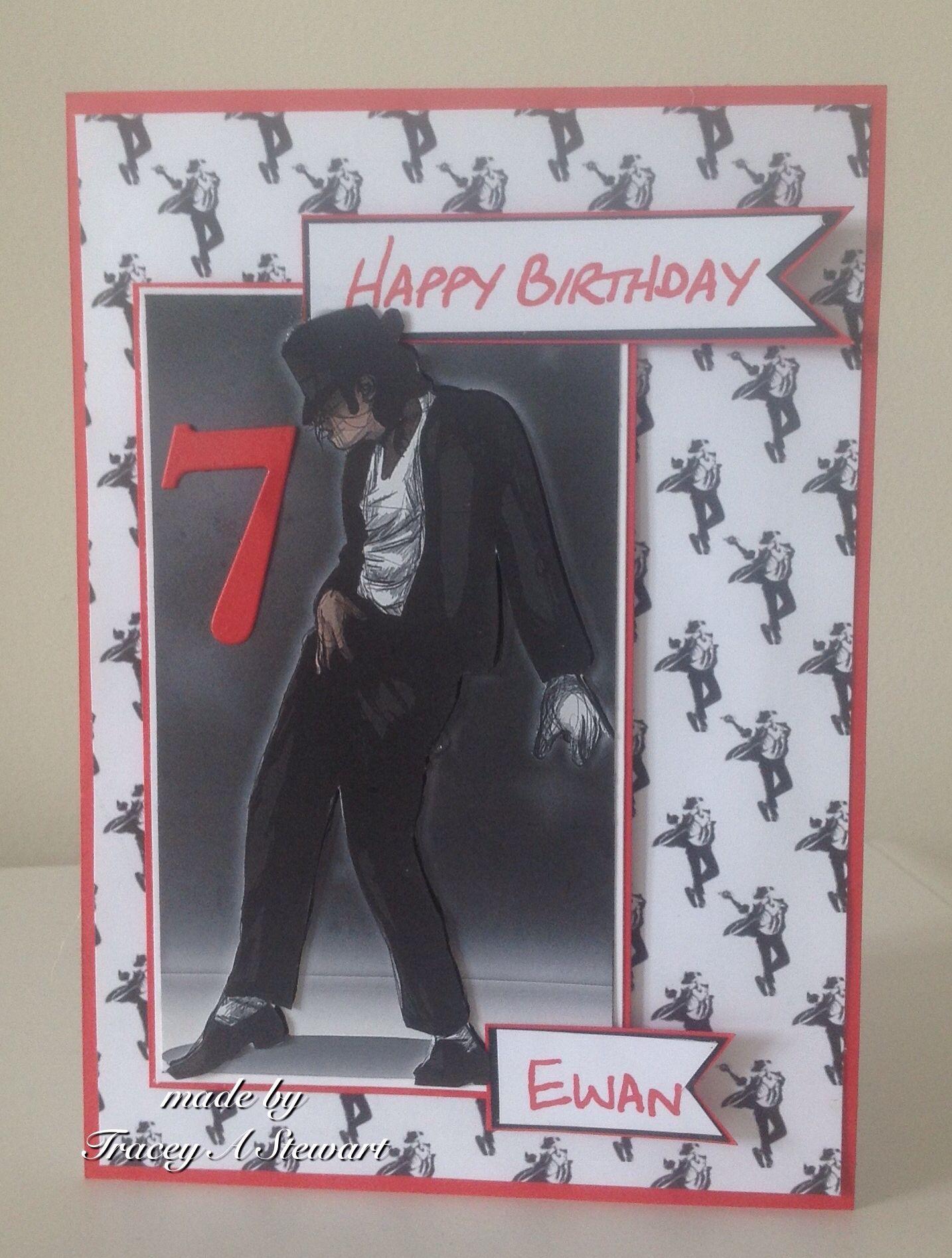 Michael Jackson Birthday Card Gifts Cards Michael