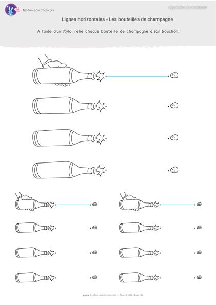 5 pdf fiche maternelle gs graphisme lignes horizontale bouteilde champagnes a imprimer kil. Black Bedroom Furniture Sets. Home Design Ideas