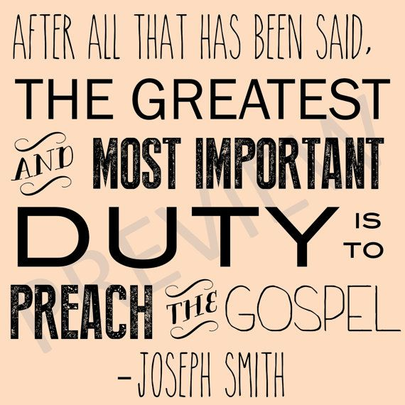 Lds Missionary Quotes Custom Downloadable Missionary Work Quote Lds Joseph Smith Duty To Preach