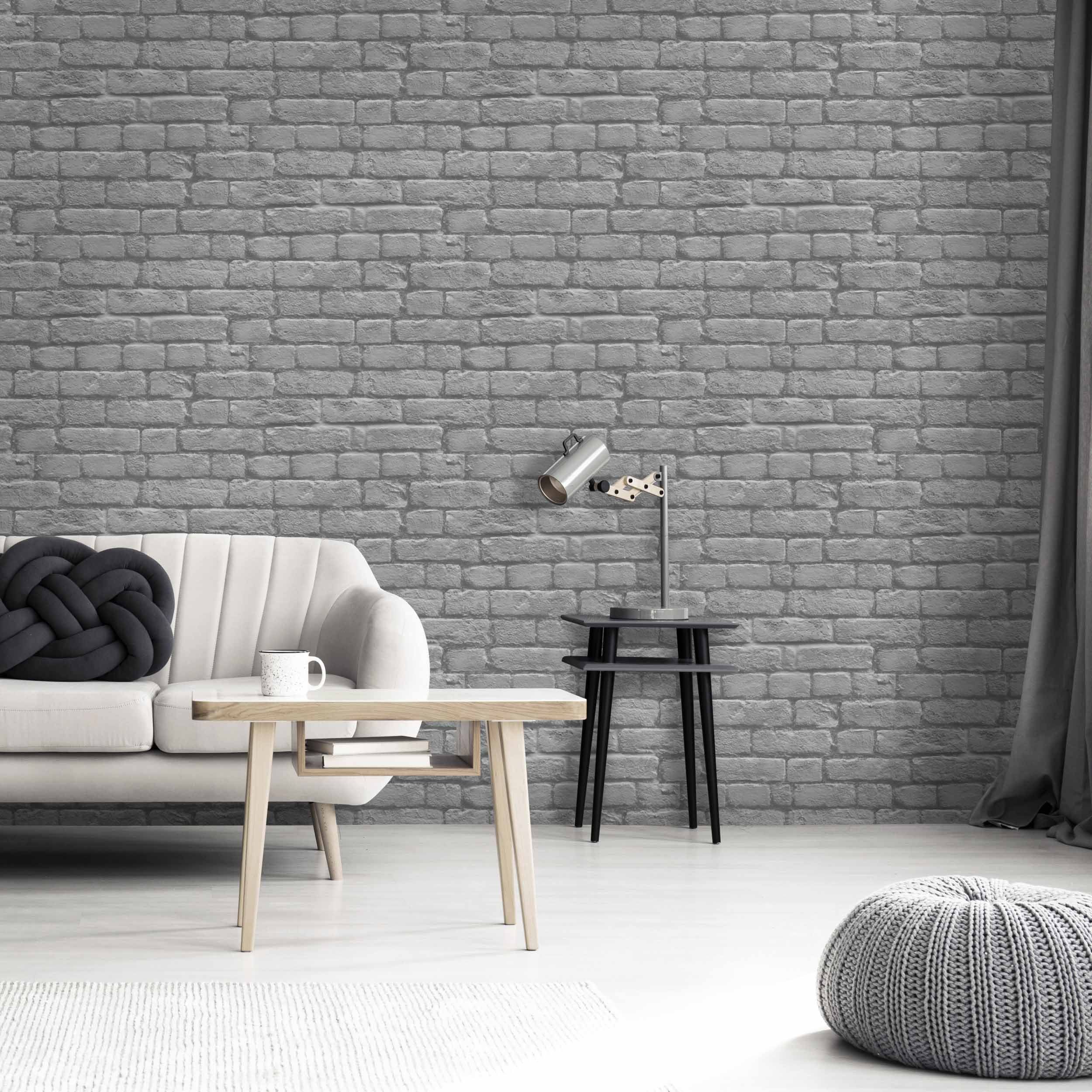 Charcoal Brick by Woodchip & Magnolia Brick interior