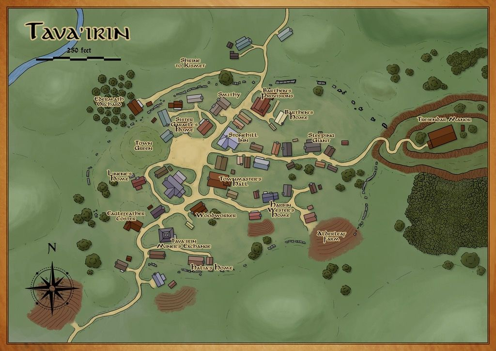 First town map for my new D&D Campaign! [Critique Welcome ... on