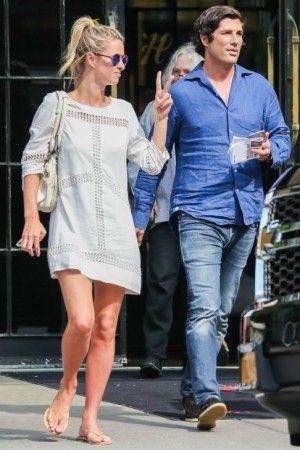 Nicky Hilton wearing Chloe Paddington Bag and Wish Alena Shift Dress