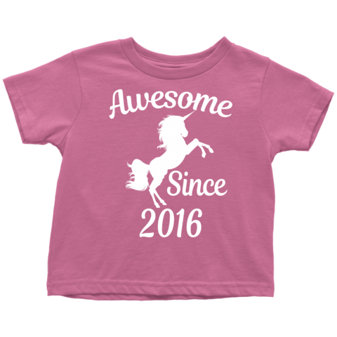 Unicorns are Born in 2016 T-Shirt 2nd Birthday Dabbing Tee