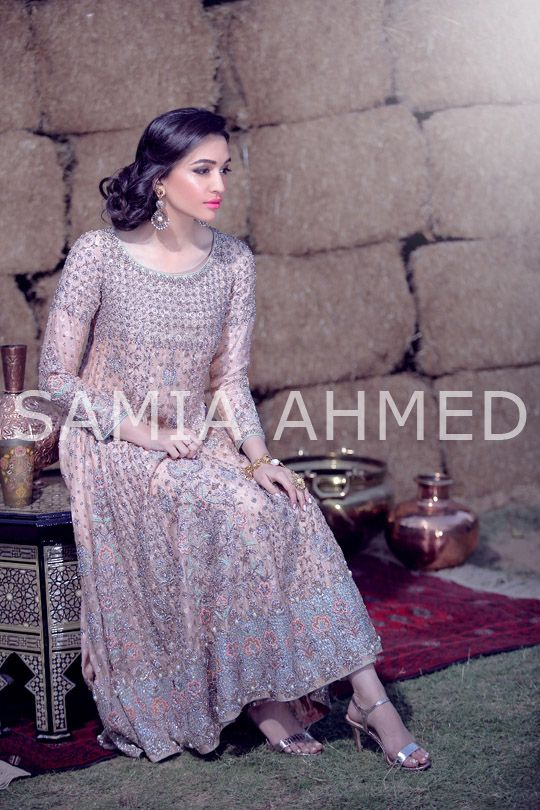 Pakistani couture.Hard to find so much as a detail to pick at in this latest couture campaign by Samia Ahmed that captures the traditional quintessential bridal aesthetic of her label in its entirety. Bride-to-be Sa…