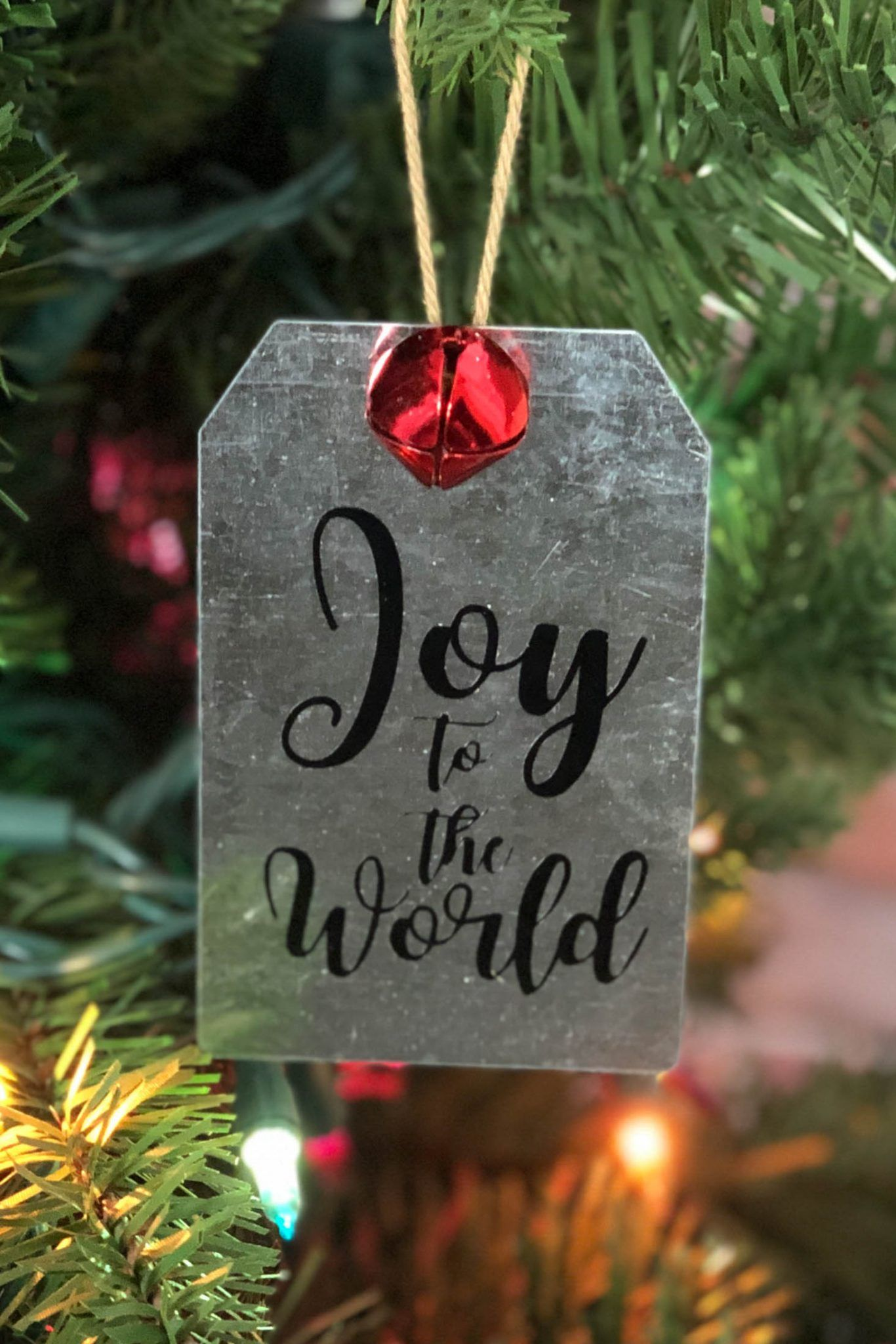 How to Make your Own DIY Metal Tag Ornaments Christmas