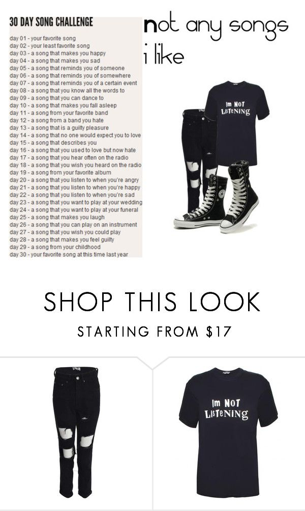 """""""Day 17"""" by killjoy-sam ❤ liked on Polyvore featuring Boohoo and Converse"""
