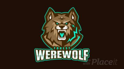 Placeit - Animated Sports Logo Maker Featuring a Furious Werewolf