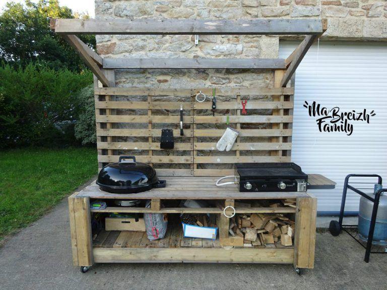 Barbecue Palette Cuisine Exterieur Mobilier Exterieur En Palettes Espace Barbecue Exterieur