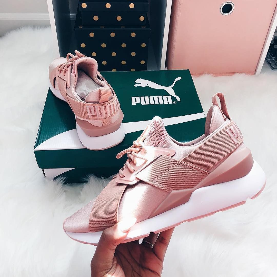 Puma Muse X-Strp – Peach Beige / White