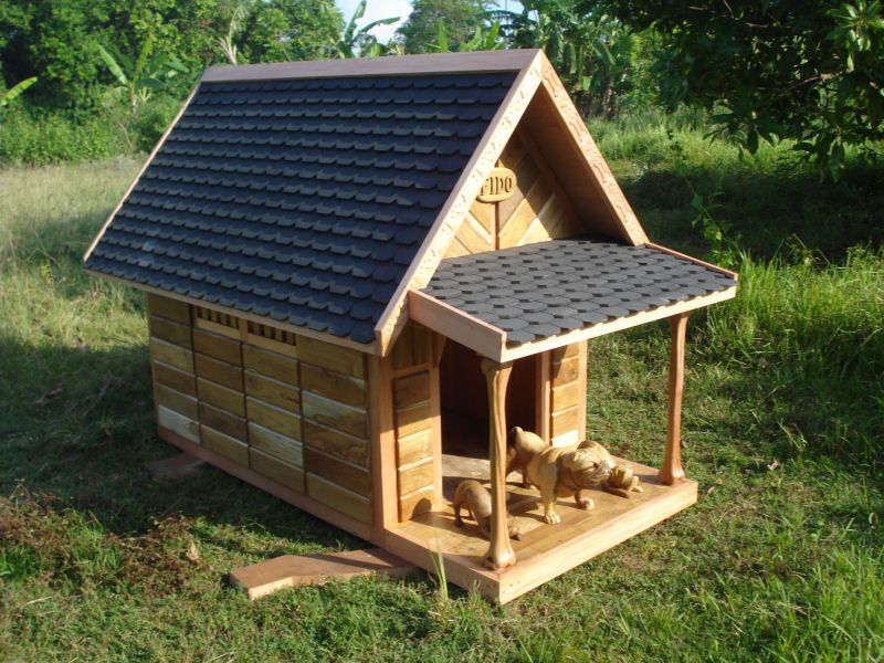 Outdoor Dog House Designs | Custom Outdoor Furniture   Rustic Designs