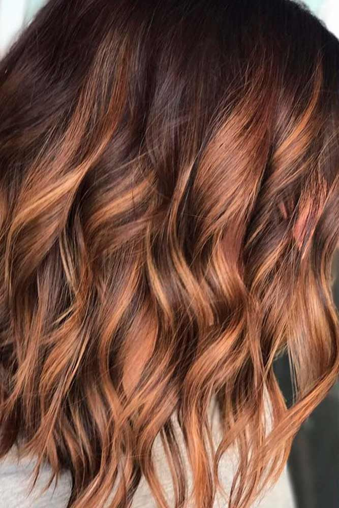 61 Charming And Chic Options For Brown Hair With Highlights Brown Hair With Highlights Hair Highlights Copper Brown Hair