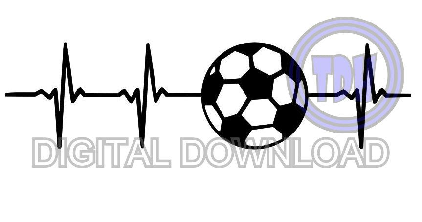 Digital Download Soccer Heartbeat Svg Dxf Eps Silhouette Etsy Silhouette Cameo Projects Gifts Soccer In A Heartbeat