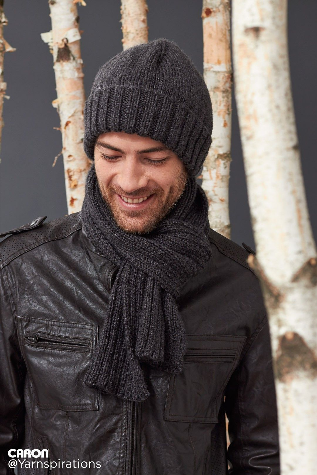 Men\'s Basic Hat and Scarf Set - Gifts for Him - Patterns ...