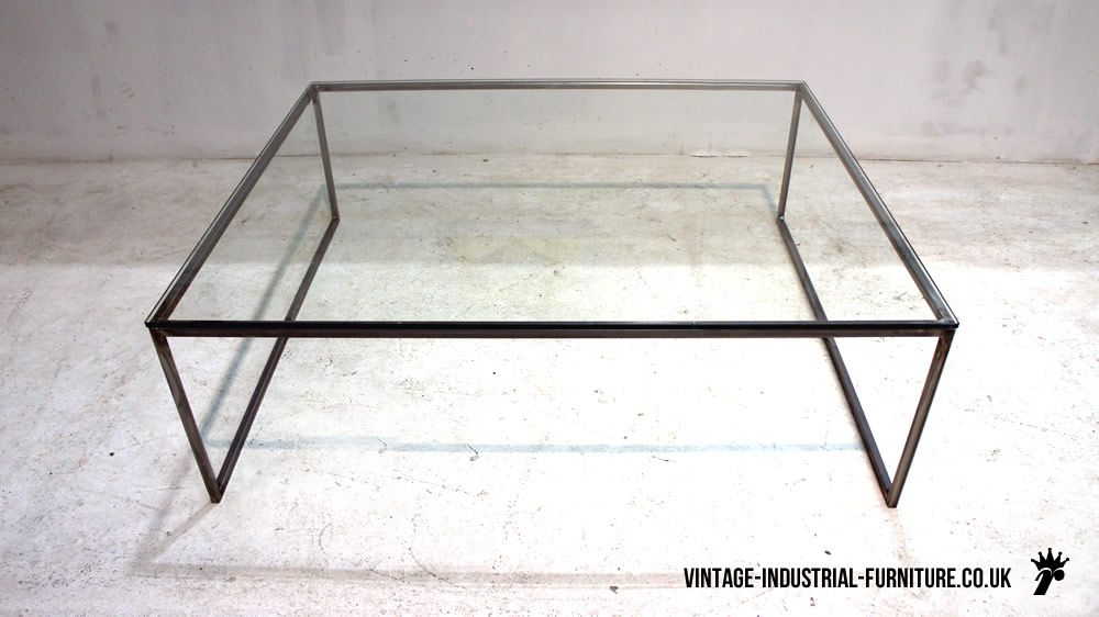 Glass And Steel Coffee Table Google Search Glass Top Coffee