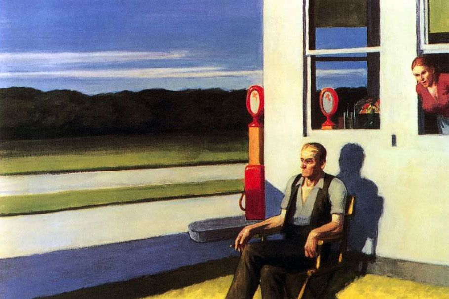 Four Lane Road: 1956 by Edward Hopper (Private Collection ...