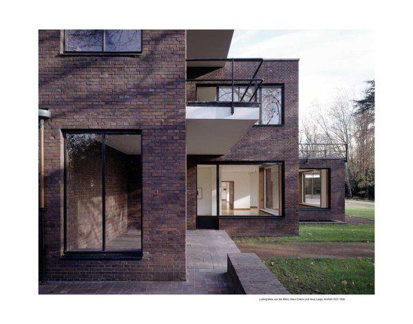 ludwig mies van der rohe haus esters und haus lange krefeld buildings pinterest haus. Black Bedroom Furniture Sets. Home Design Ideas
