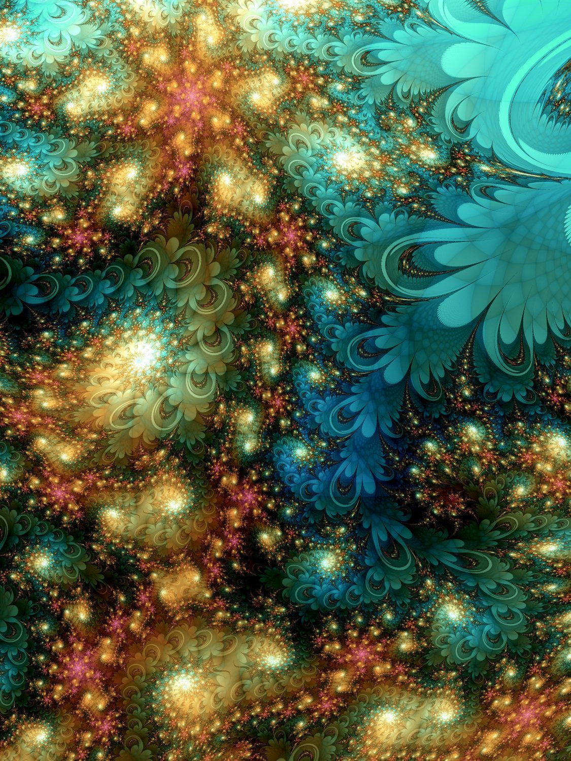 """Fractal Art With Inspirational Color Palette """"song Of"""