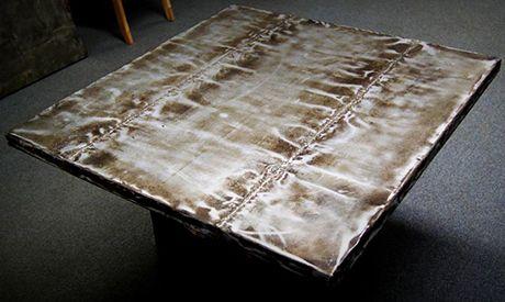 Zinc Tabletop Bastille Metal Works Sheet Metal Table.