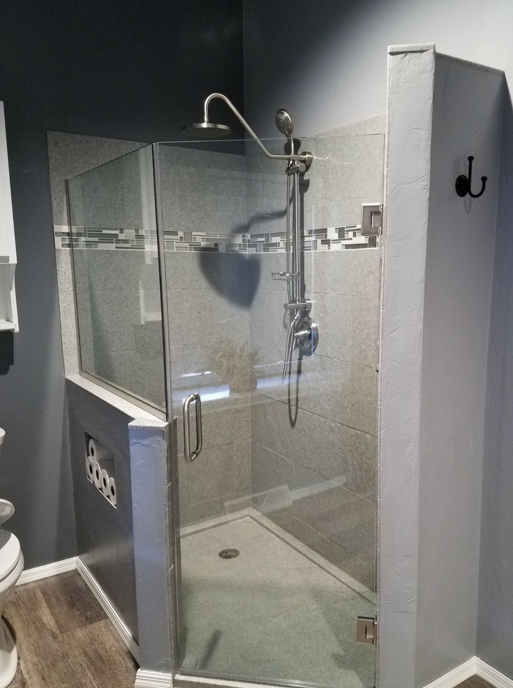 Custom Solid Surface Shower Pan Innovate Building Solutions