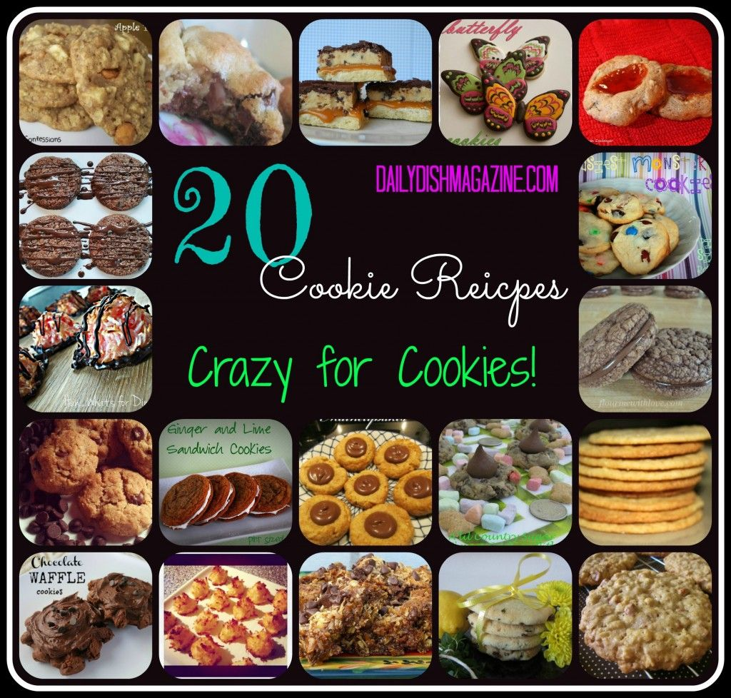 20 Crazy for Cookie Recipes! Easy recipes to make for holiday Christmas cookie exchanges!
