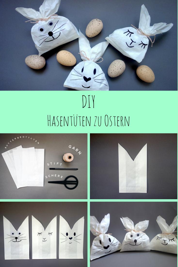 DIY: Niedliche Hasentüten zu Ostern - Der Mamablog mit Augenzwinkern - Frau-Mutter.com #loisirscréatifs