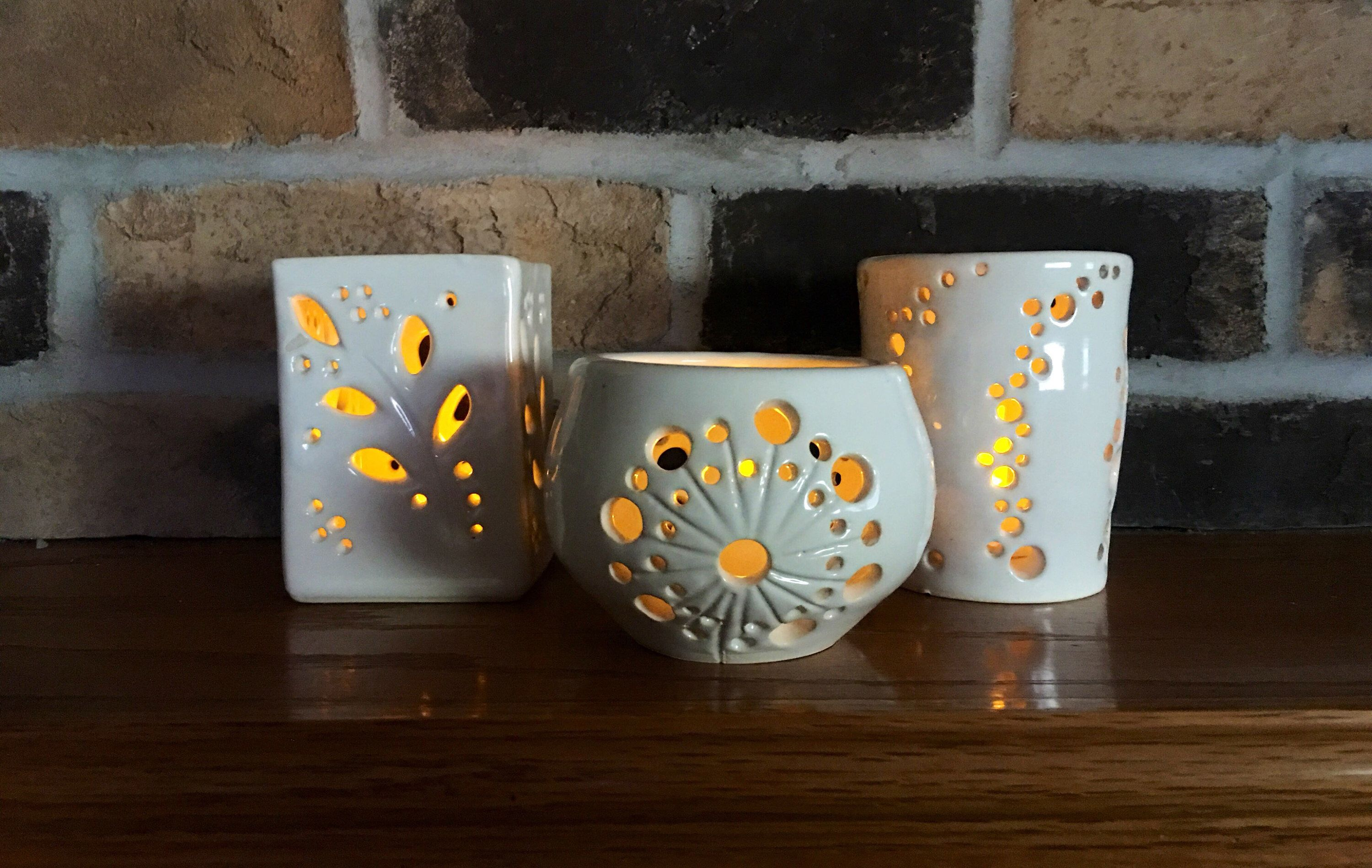 Excited To Share This Item From My Etsy Shop Pottery Votive Candleholder Luminary Votive Home Dec Pottery Candle Pottery Candle Holder Ceramic Candle Holders