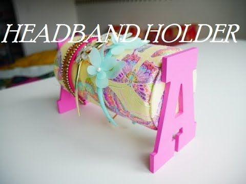 DIY   HOW TO ORGANIZE KIDS HAIRBAND -HAIR ACCESSORIES HOLDER   Recycling cardboard - YouTube #kidshairaccessories