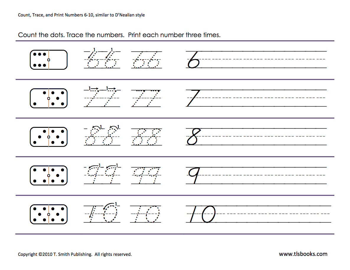 Numbers Tracing 6 10 Preschool Worksheets Math Writing Letter Recognition Worksheets