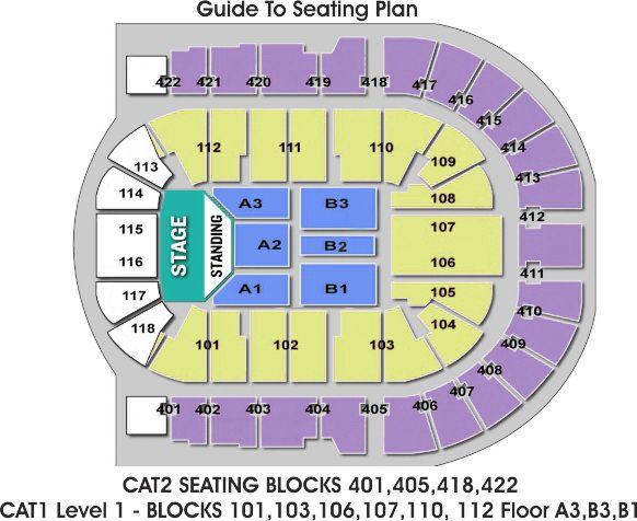 The O2 Arena London Seating Plan Standing Block The O2