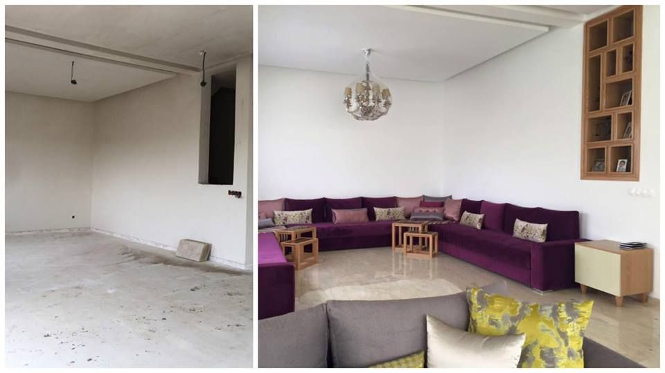 Intérieur sur mesure | Salon marocain moderne, Salon ...