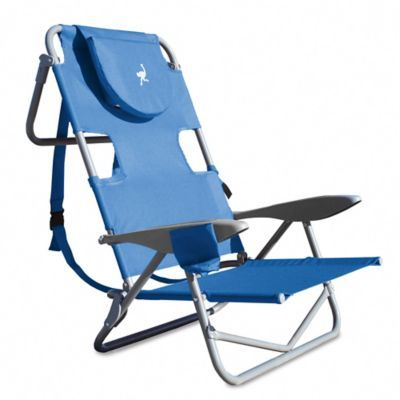 Excellent Ostrich On Your Back Reclining Beach Chair In Blue In 2019 Gamerscity Chair Design For Home Gamerscityorg