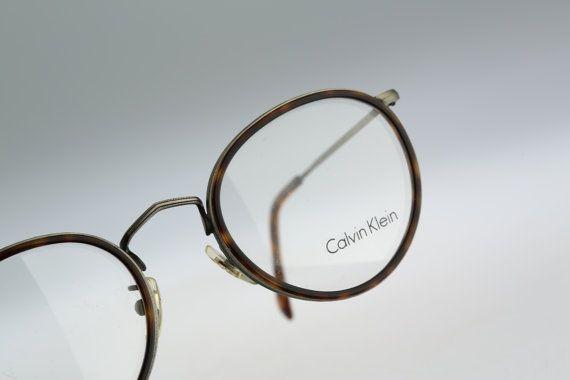 Calvin Klein Ck 205 582 Vintage Round Eyeglasses 90s Mens