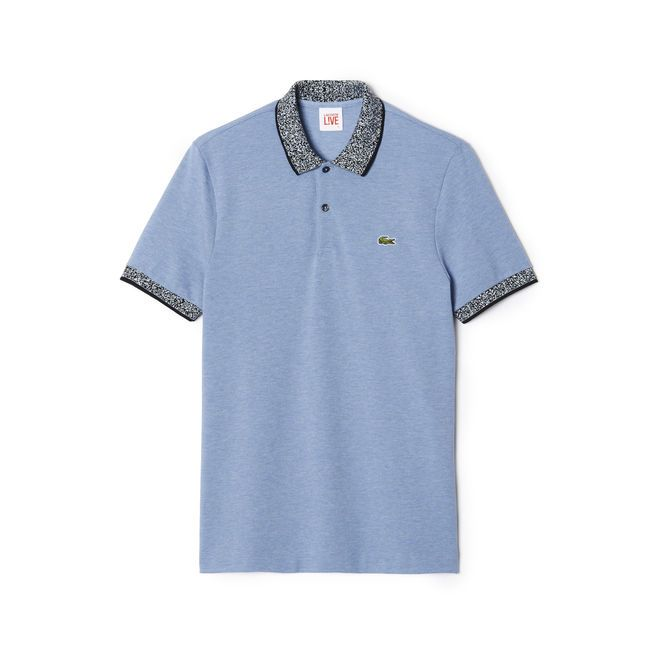 Original fit Lacoste Live polo with printed collar  - 2