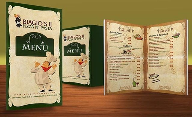 Restaurant Brochure Design Examples For Inspiration  Menus