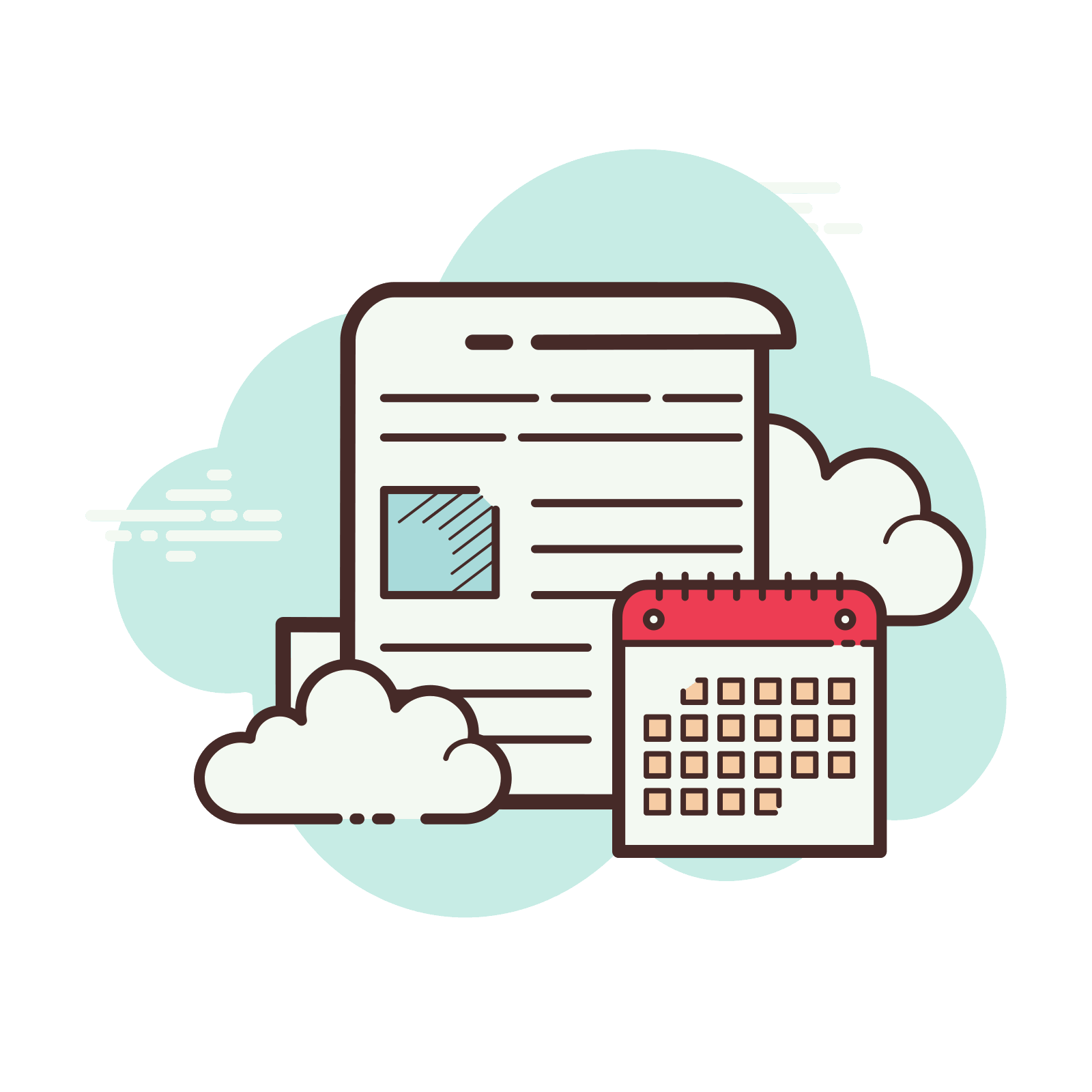 Calendar Document Icon – Free Download, PNG and Ve