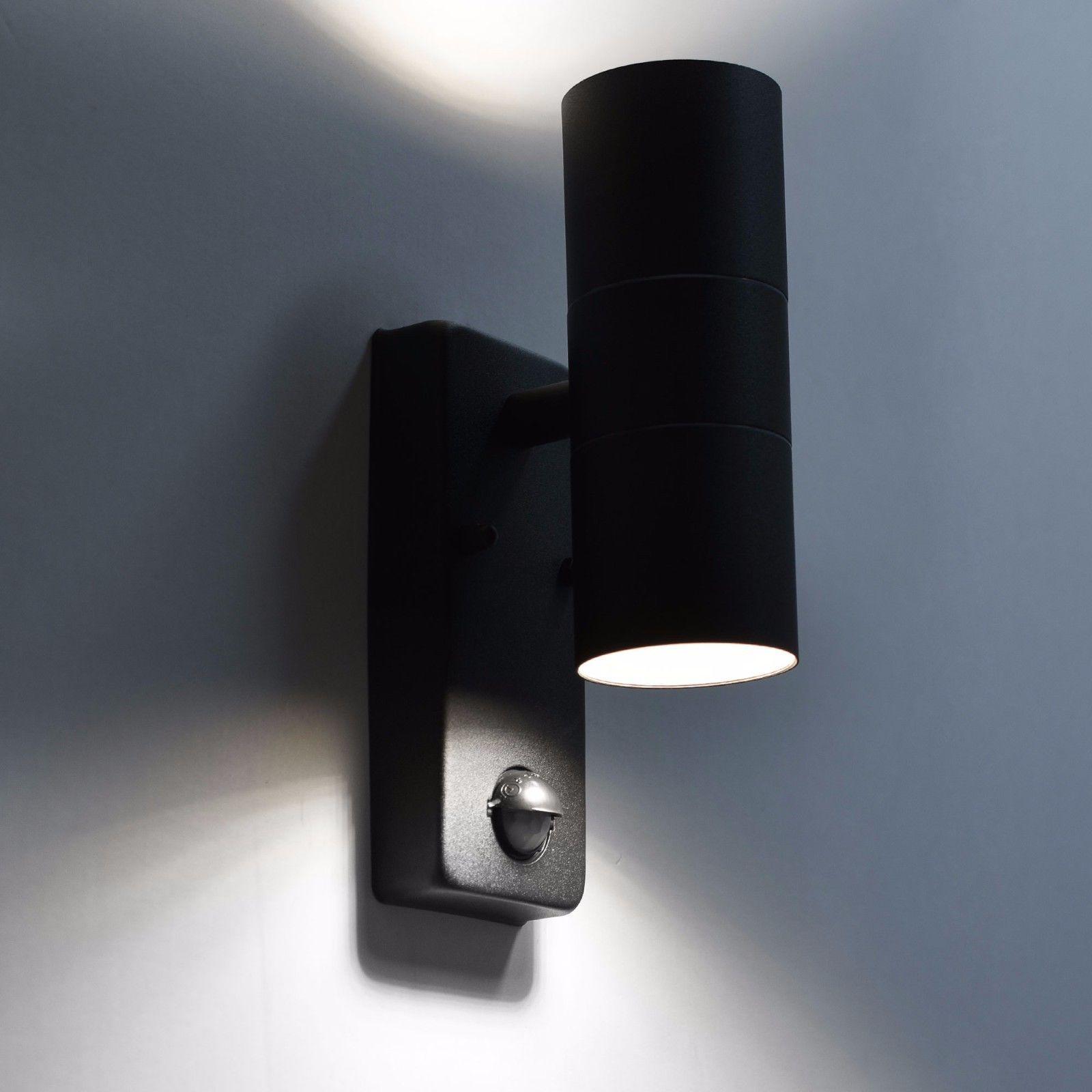 Design Wandleuchte mit LED Außenleuchte mit Bewegungsmelder Wandlampe Außenlampe