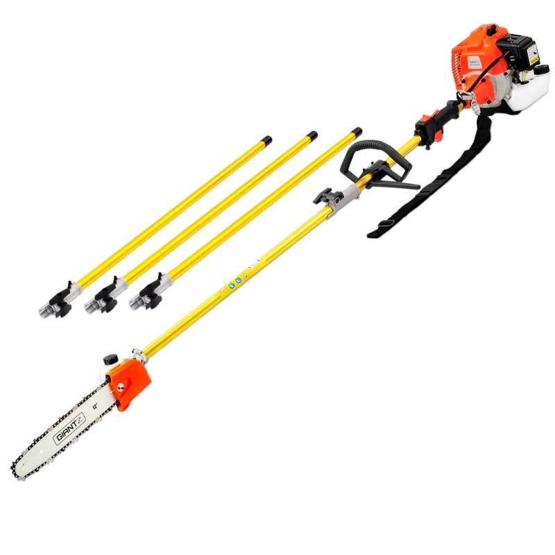 75cc Pole Chainsaw Brush Cutter Tree Hedge Pruner Petrol Brush Long Hedge Trimmers Hedges Pruners